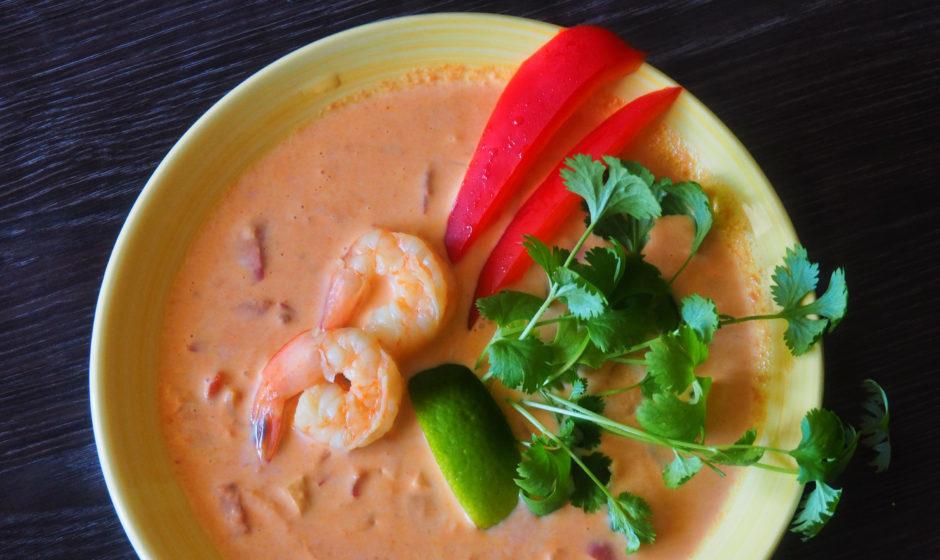 Zupa tajska z krewetkami
